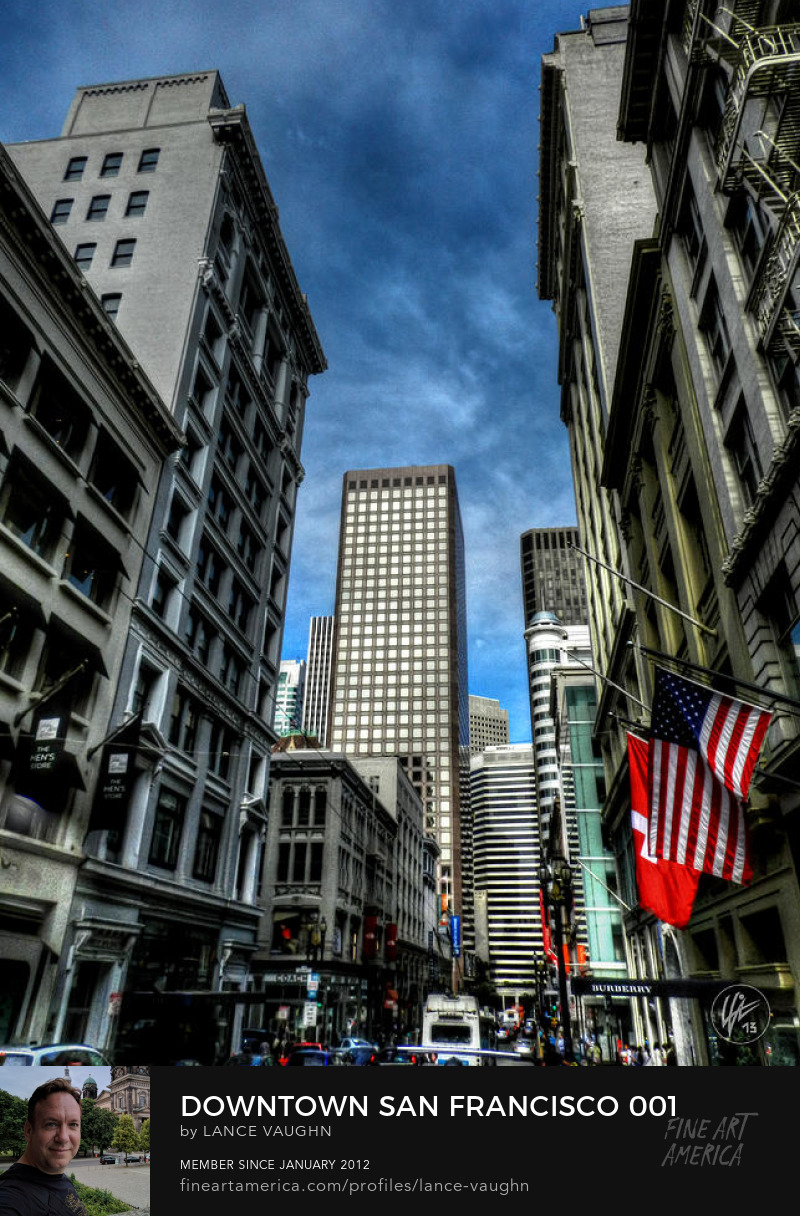 Downtown San Francisco urban city photograph by Lance Vaughn