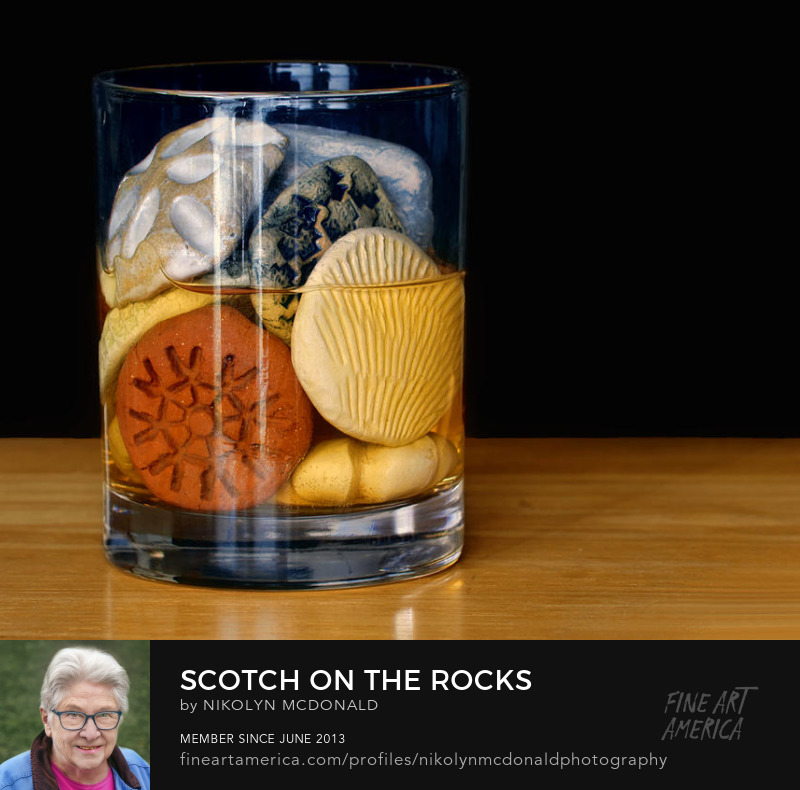 cocktails scotch on the rocks interpretation by Nikolyn McDonald