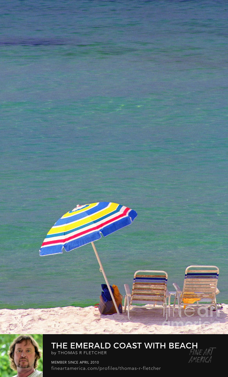 Emerald Coast Florida Beach chairs umbrella Gulf of Mexico