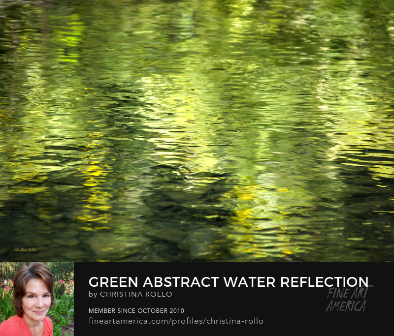 Green Abstract Water Reflection