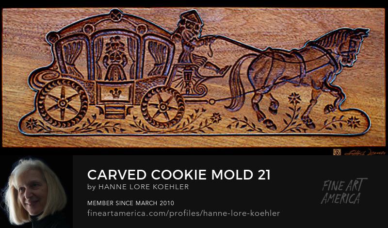 Wood Carving Baking Mold Art Prints