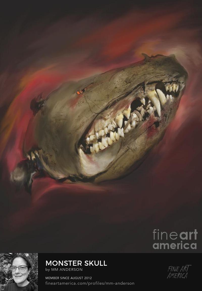 Monster Skull artwork for sale by MM Anderson