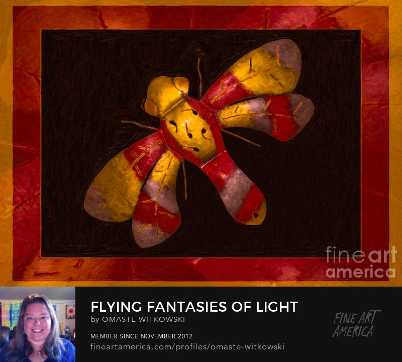 Flying Fantasies Of Light Abstract Painting Trade Routz Living Style Art Prints