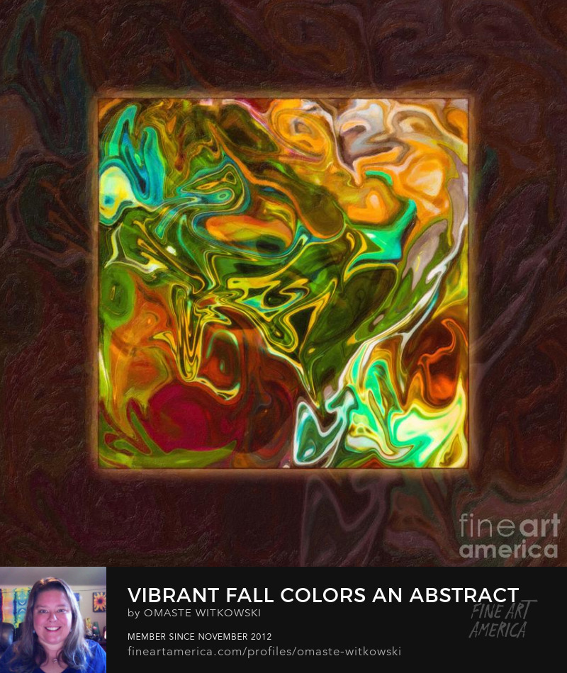 Vibrant Fall Colors An Abstract Painting Abstract Large Brushes Art Prints