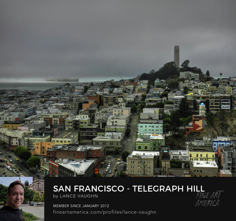 Telegraph Hill San Francisco California photograph by Lance Vaughn