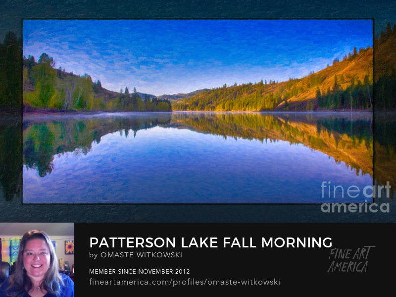 Patterson Lake Fall Morning Abstract Landscape