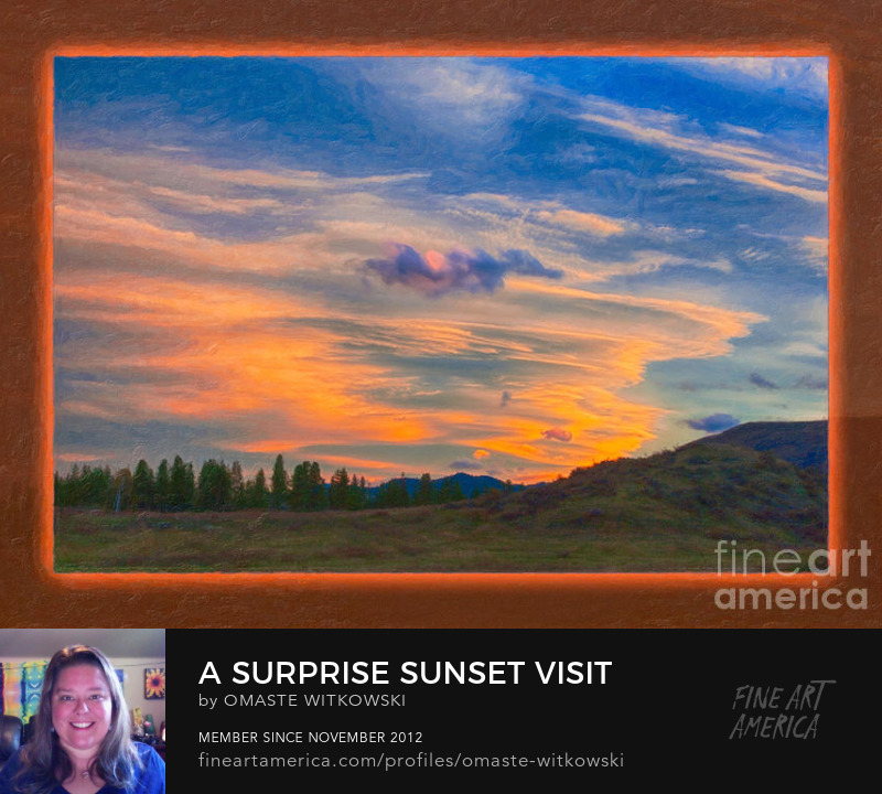 A Surprise Sunset Visit Landscape Painting Abstract Large Brushes Art Prints