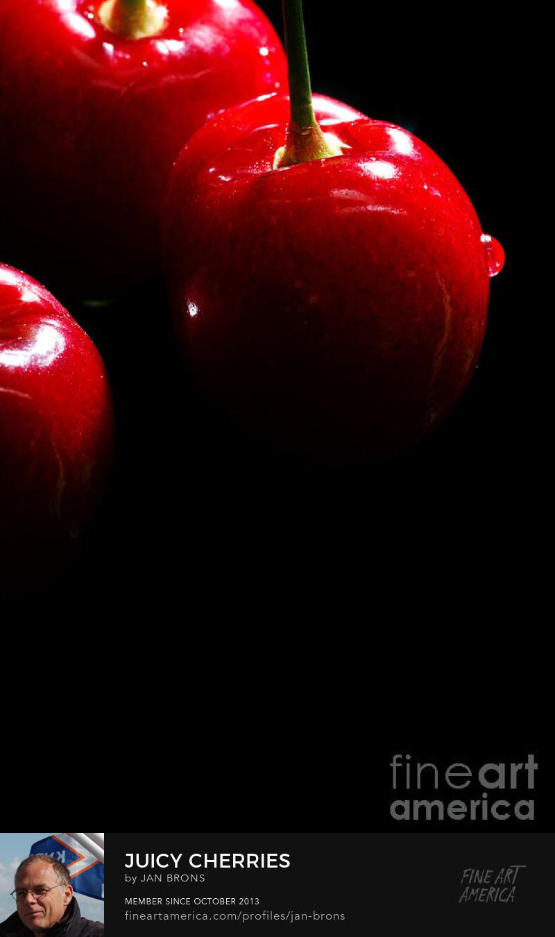 Juicy cherries - Art Prints