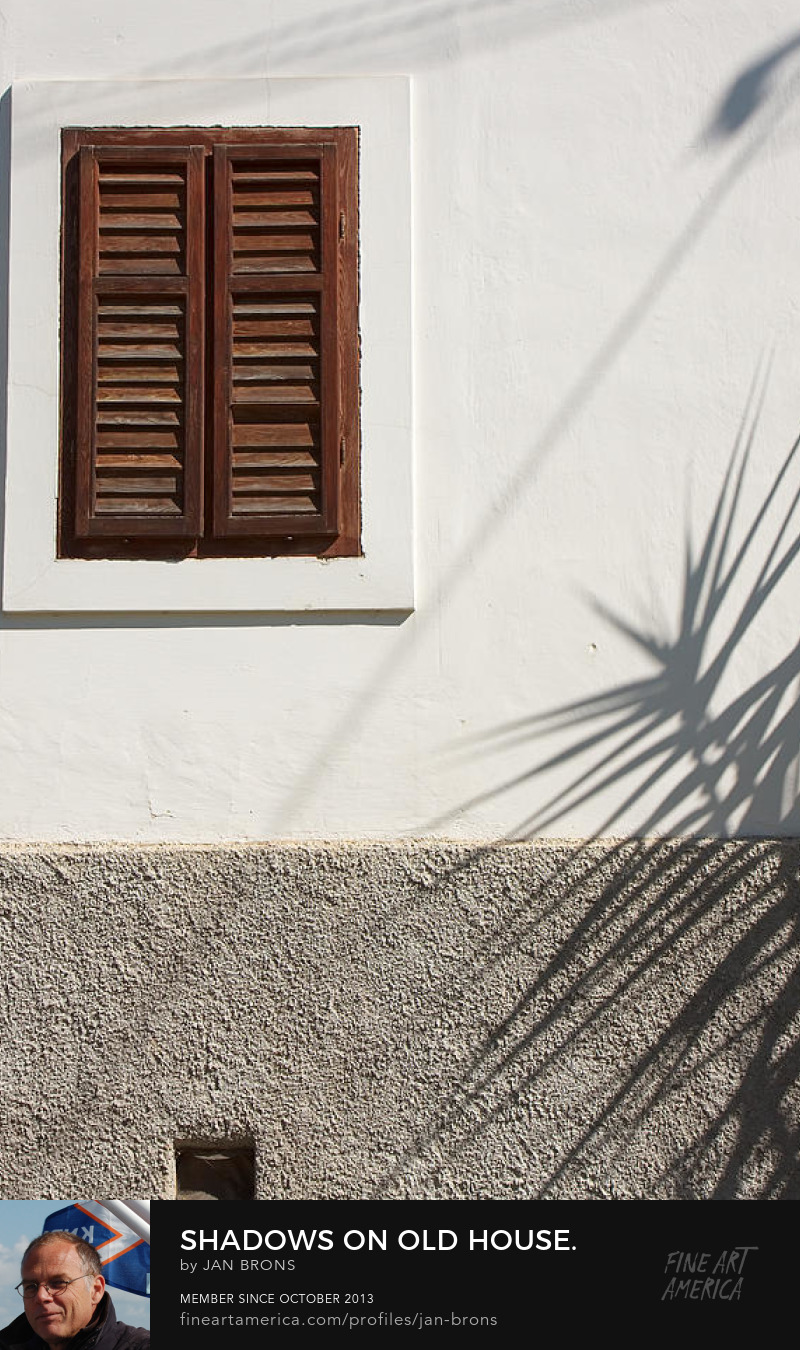 Shadows on old house - Sell Art Online