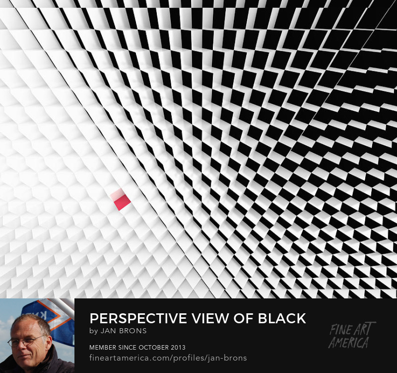 Perspective view Black White cubes  - Art Prints