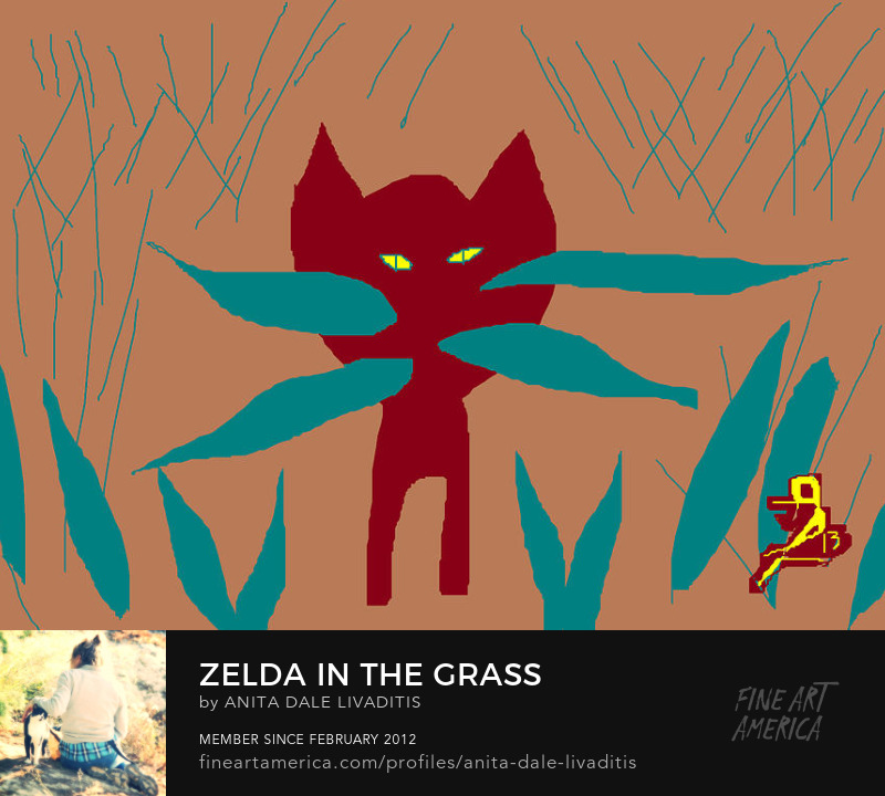 Zelda in the Grass by Anita Dale Livaditis