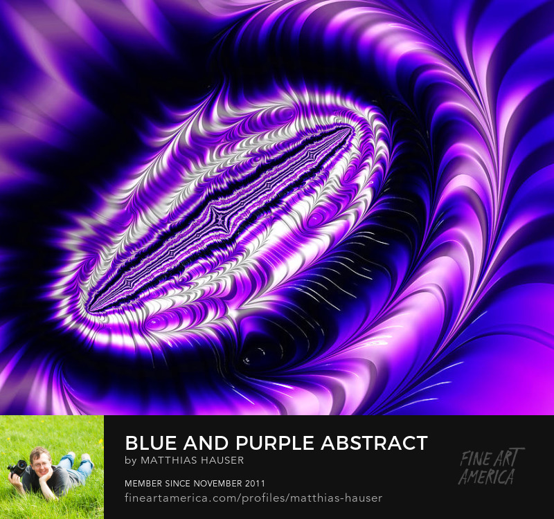 Purple Abstract Art Prints by Matthias Hauser