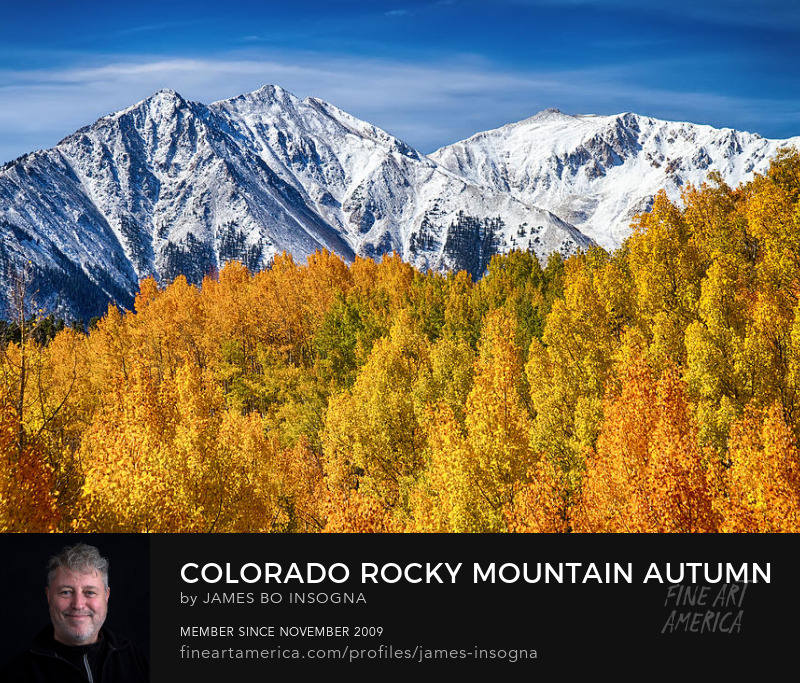 Autumn Magic Rocky Mountains Photography Prints