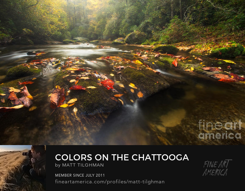 Chattooga River in Fall Art Prints