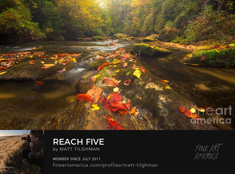 Chattooga River in Autumn Art Prints