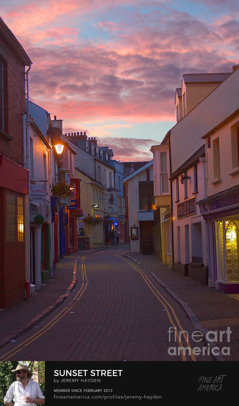 Sunset Tenby Street - Photography Prints from Jeremy Hayden Photography