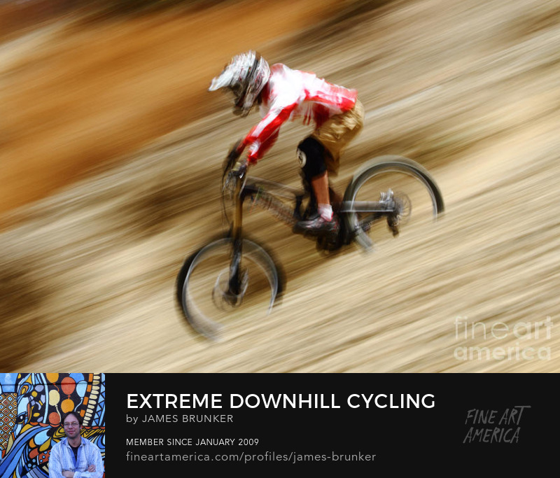 Sports Action Cycling Photo Art Prints