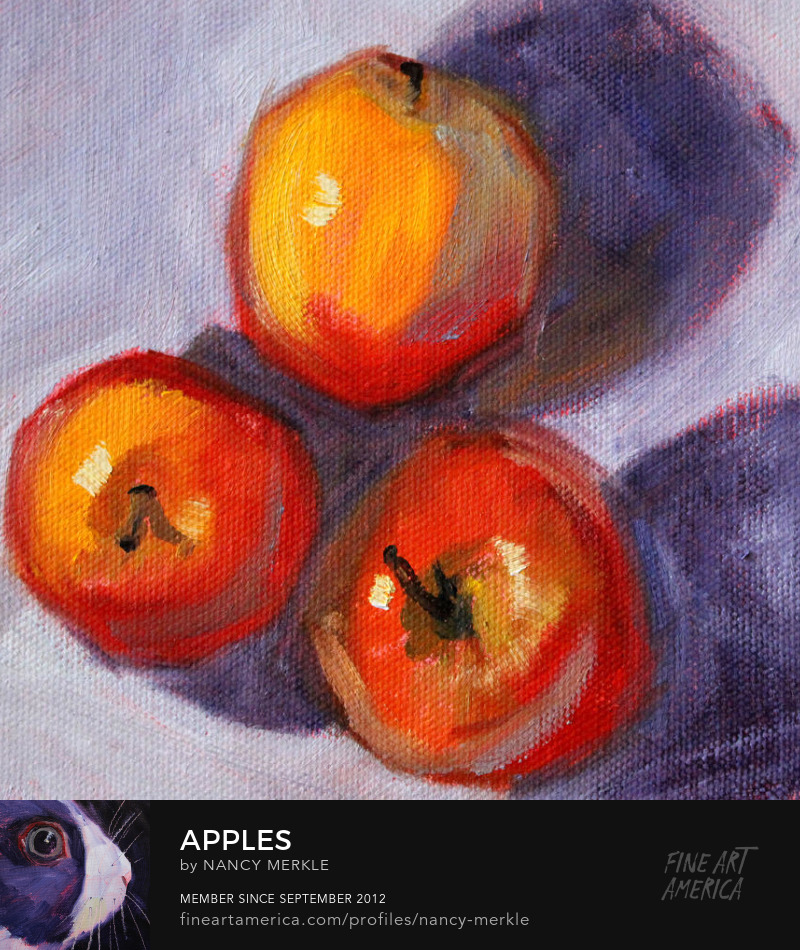 Still Life Fruit Painting by Nancy Merkle
