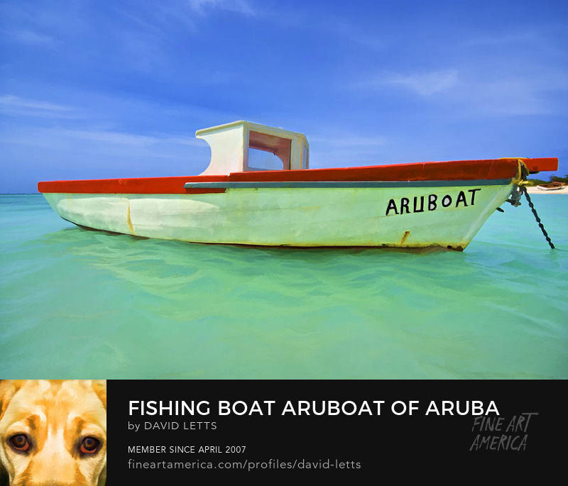 Aruba Fishing Boat Caribbean photograph for sale by David Letts