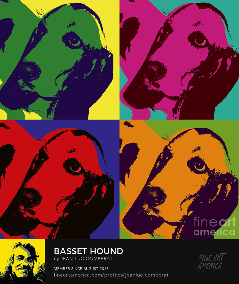 Basset hound Pop Art Prints