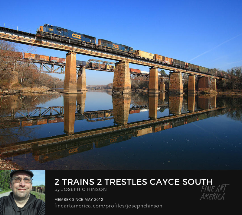 Two Trains Crossing the Congaree River Joe Hinson
