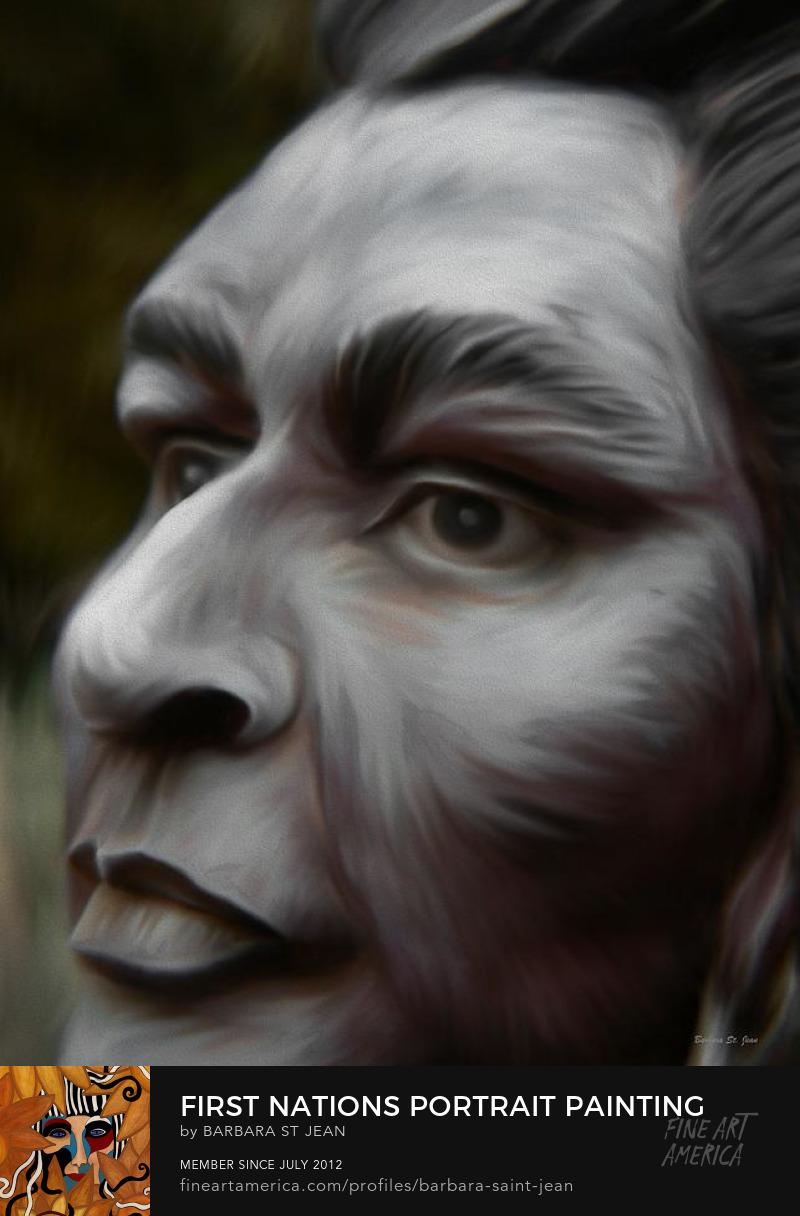 First Nations Portrait Painting by Barbara St. Jean