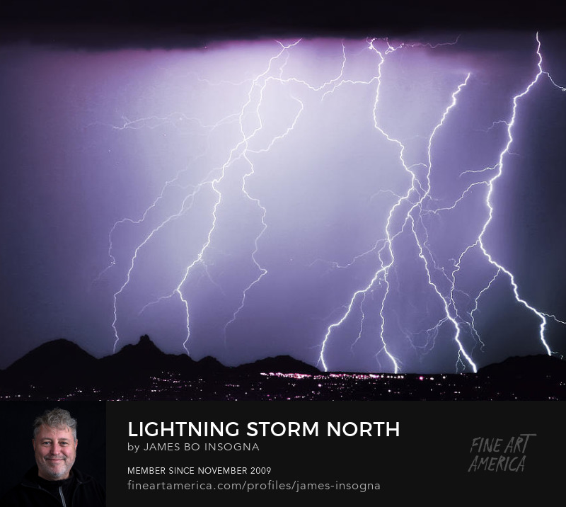 Lightning Storm North Scottsdale AZ 85255 Photography Prints