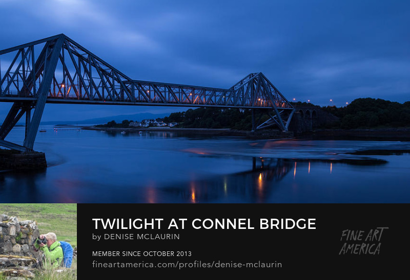 Twilight at Connel Bridge by Denise McLaurin