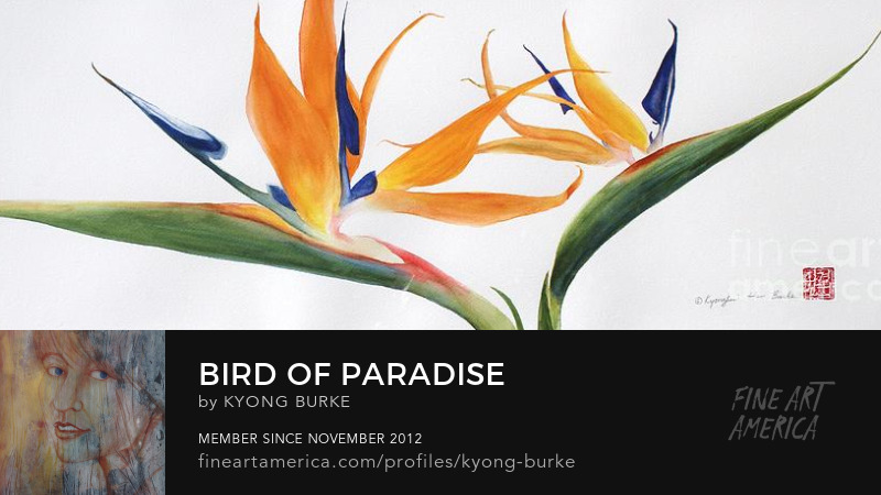 exotic flower Bird of Paradise by Kyong Burke