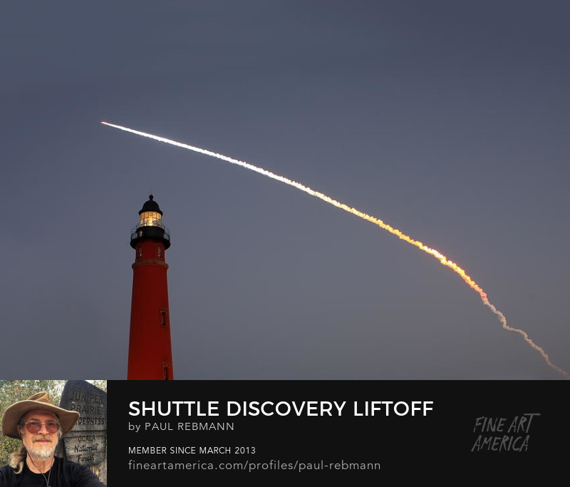 Purchase Discovery Liftoff Over Ponce Inlet Lighthouse by Paul Rebmann