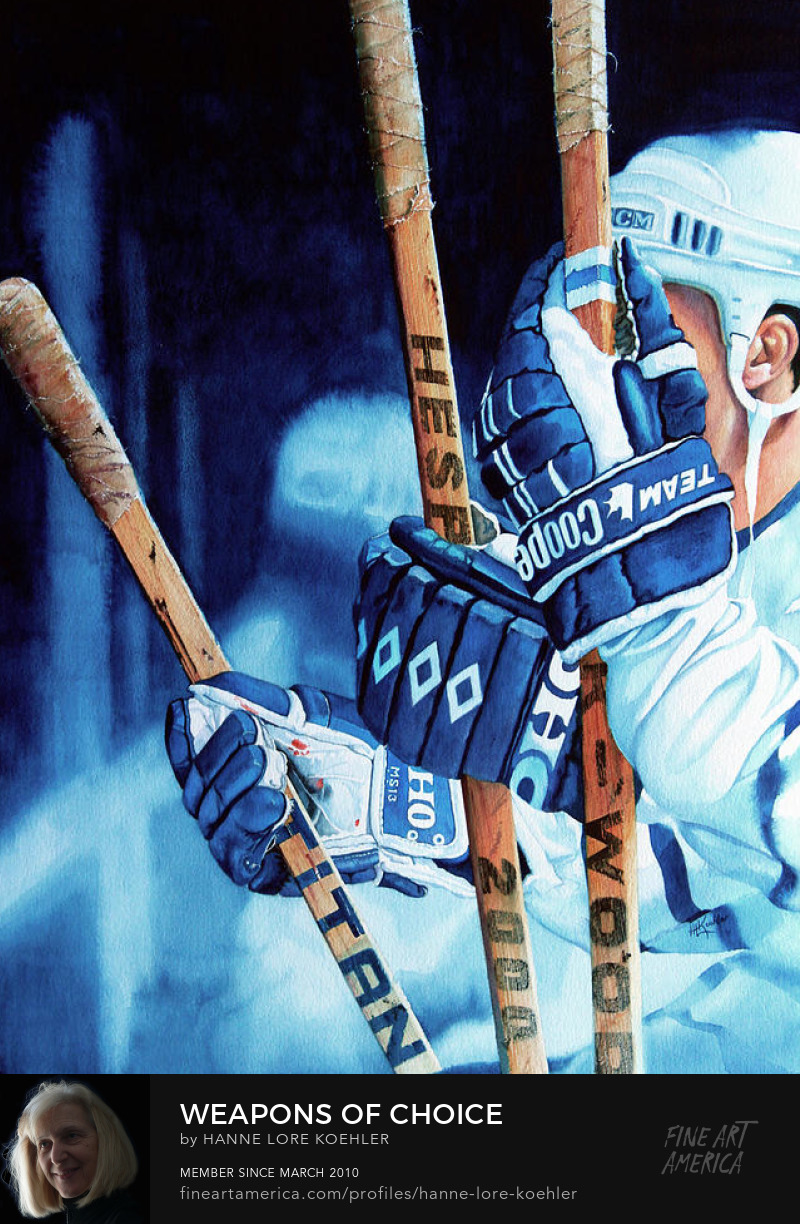 Toronto Maple Leafs Hockey Painting