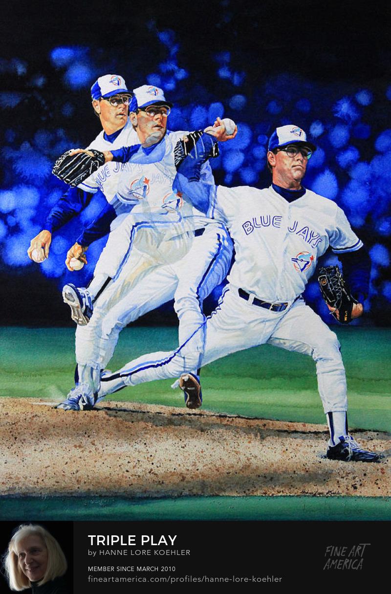 Toronto Blue Jays Baseball Celebrity Action Sports Art