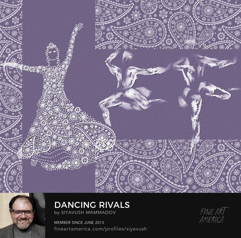Dancing Rivals Digital Art by Siyavush Mammadov