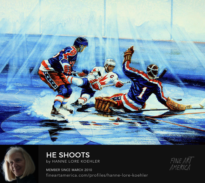 Olympic Hockey canvas and sports Art Prints