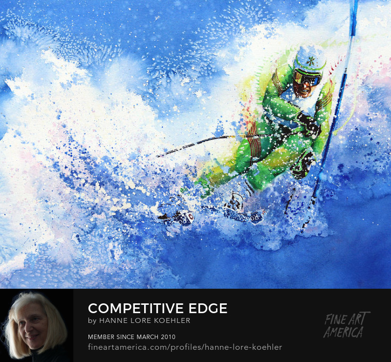 Olympic Skiing Art Prints