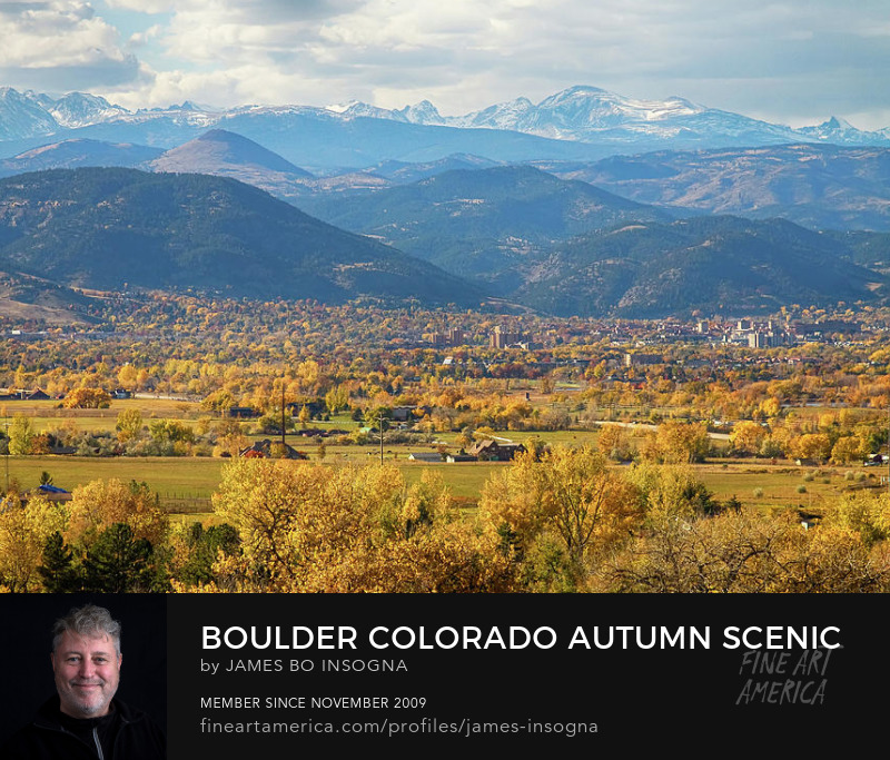 Boulder Colorado Autumn Scenic Overlook View Art Prints