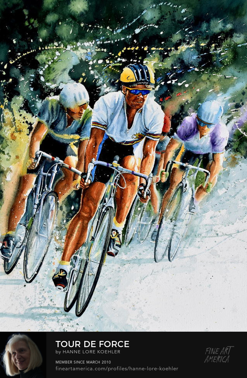 Cycling Race Art Prints