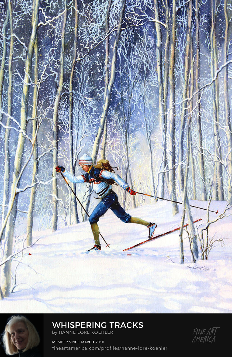 Cross-country Skiing Painting And Art Prints