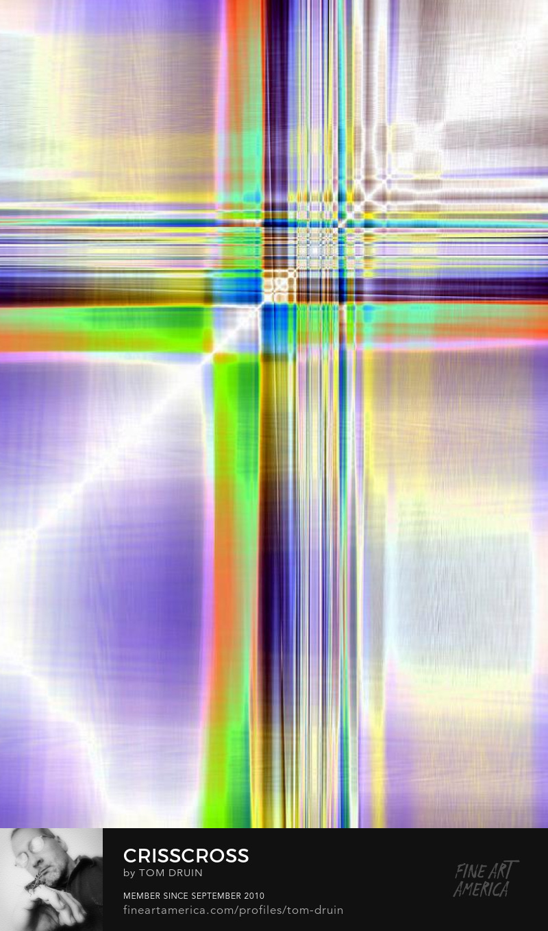 unique  spiritual abstract digital crosses by tom druin
