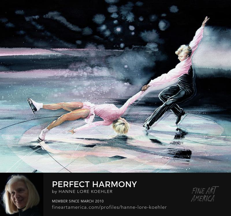 Figure Skating Art Prints for girls room decor