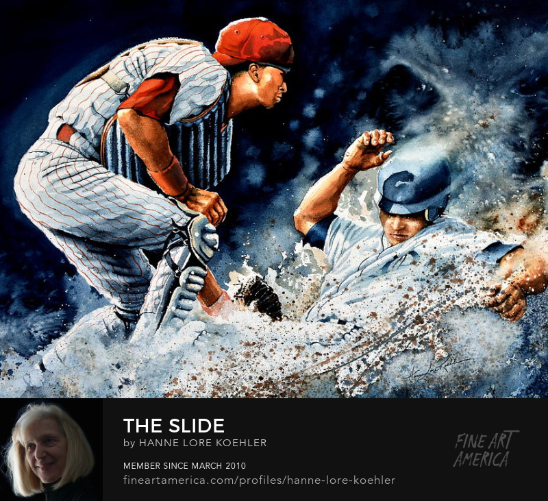 baseball action sports art print