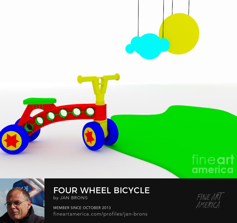 Closeup of four wheeled kids bike - Art Prints