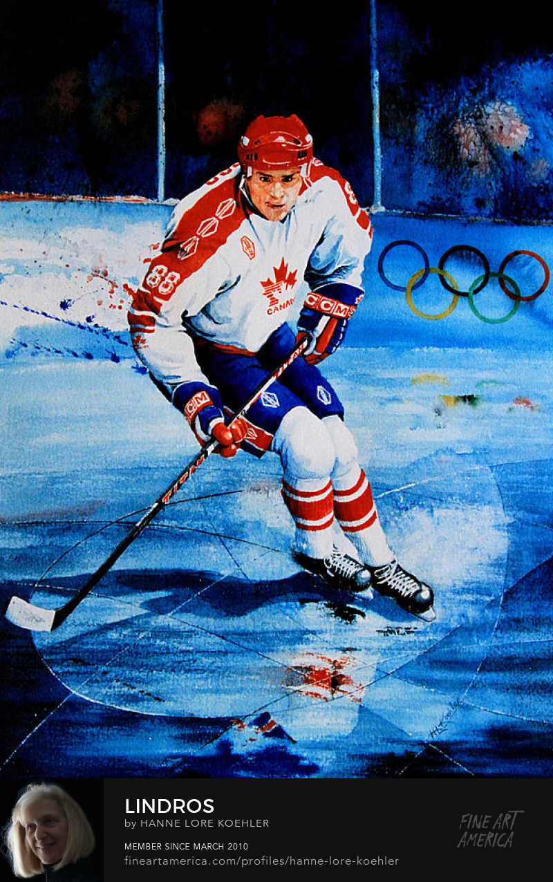Hockey Superstar Celebrity Eric Lindros Art Print