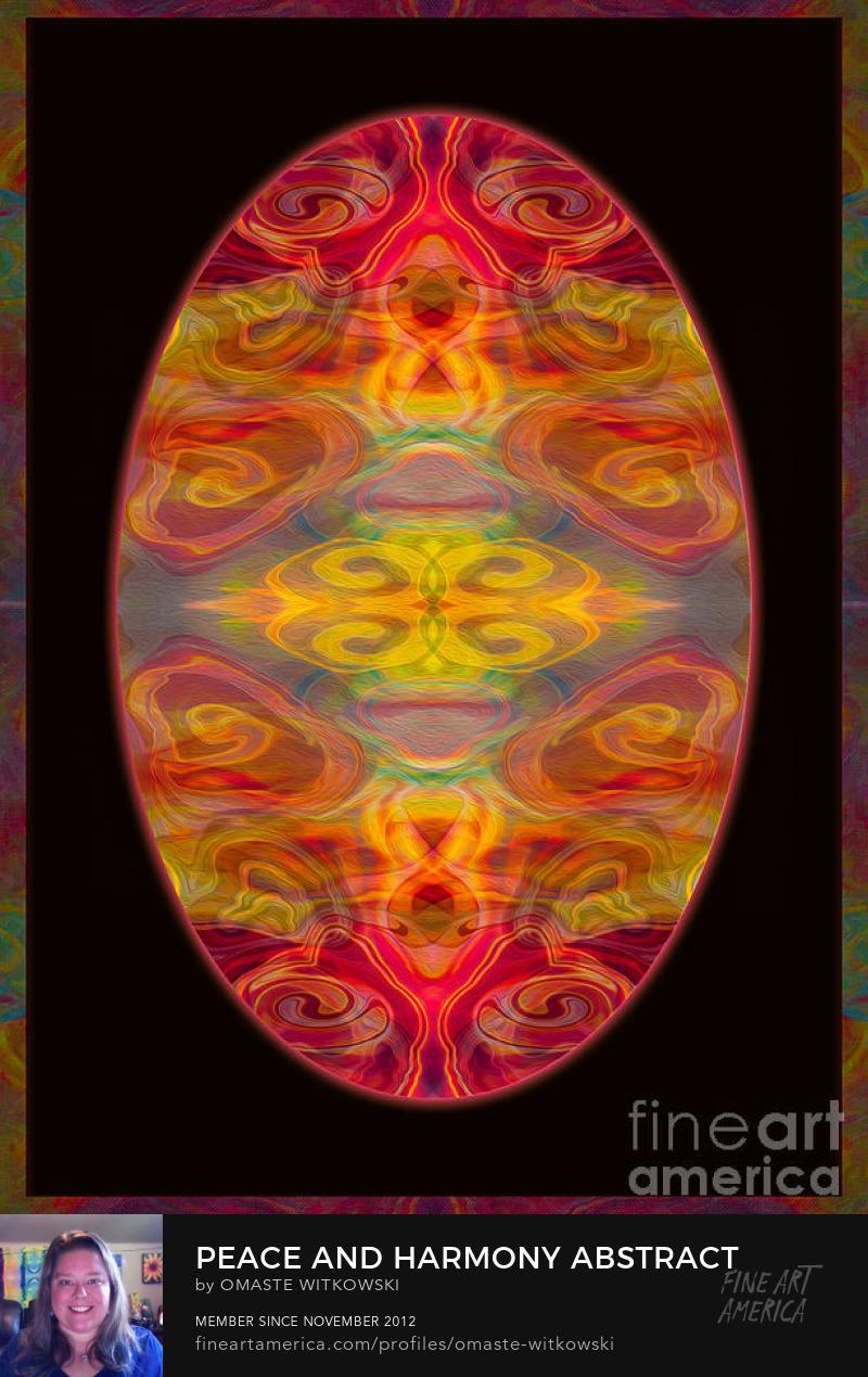 Peace And Harmony Abstract Healing Art Art Prints