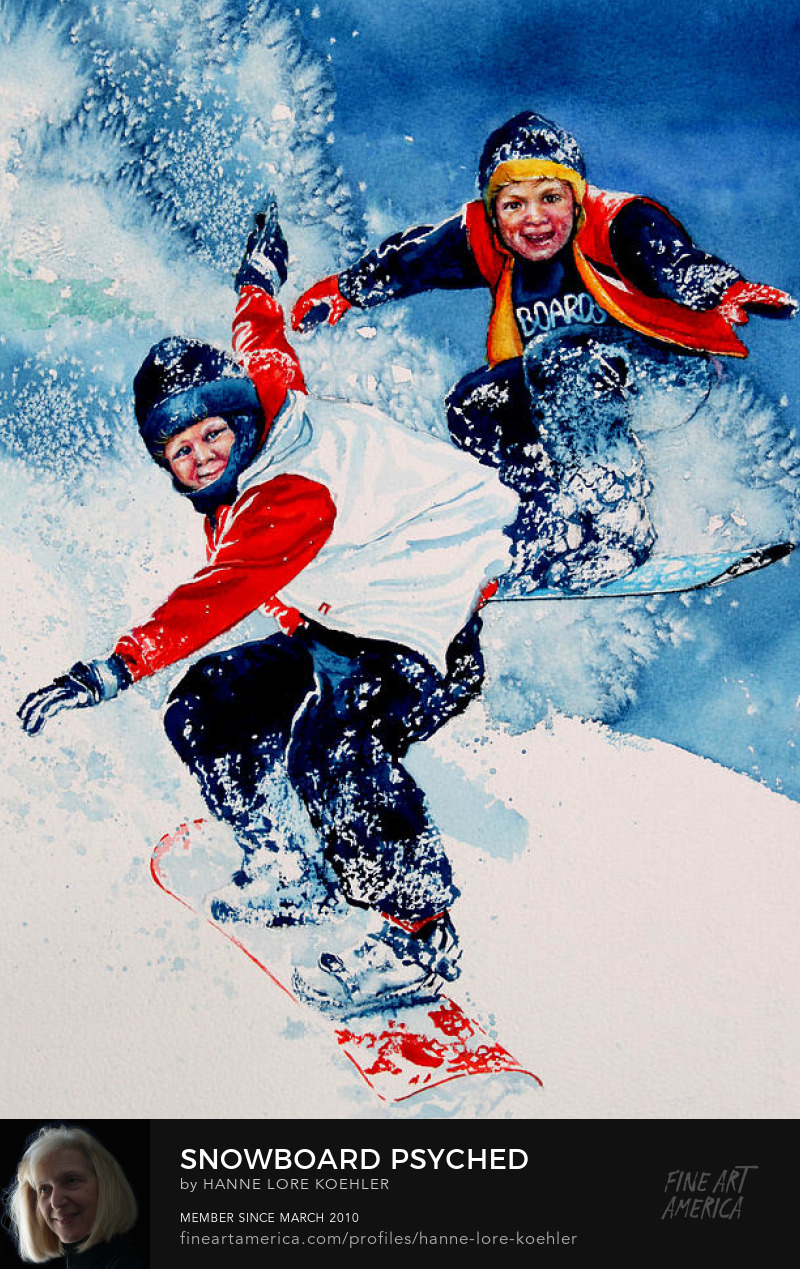 Snow Boarding Art Prints