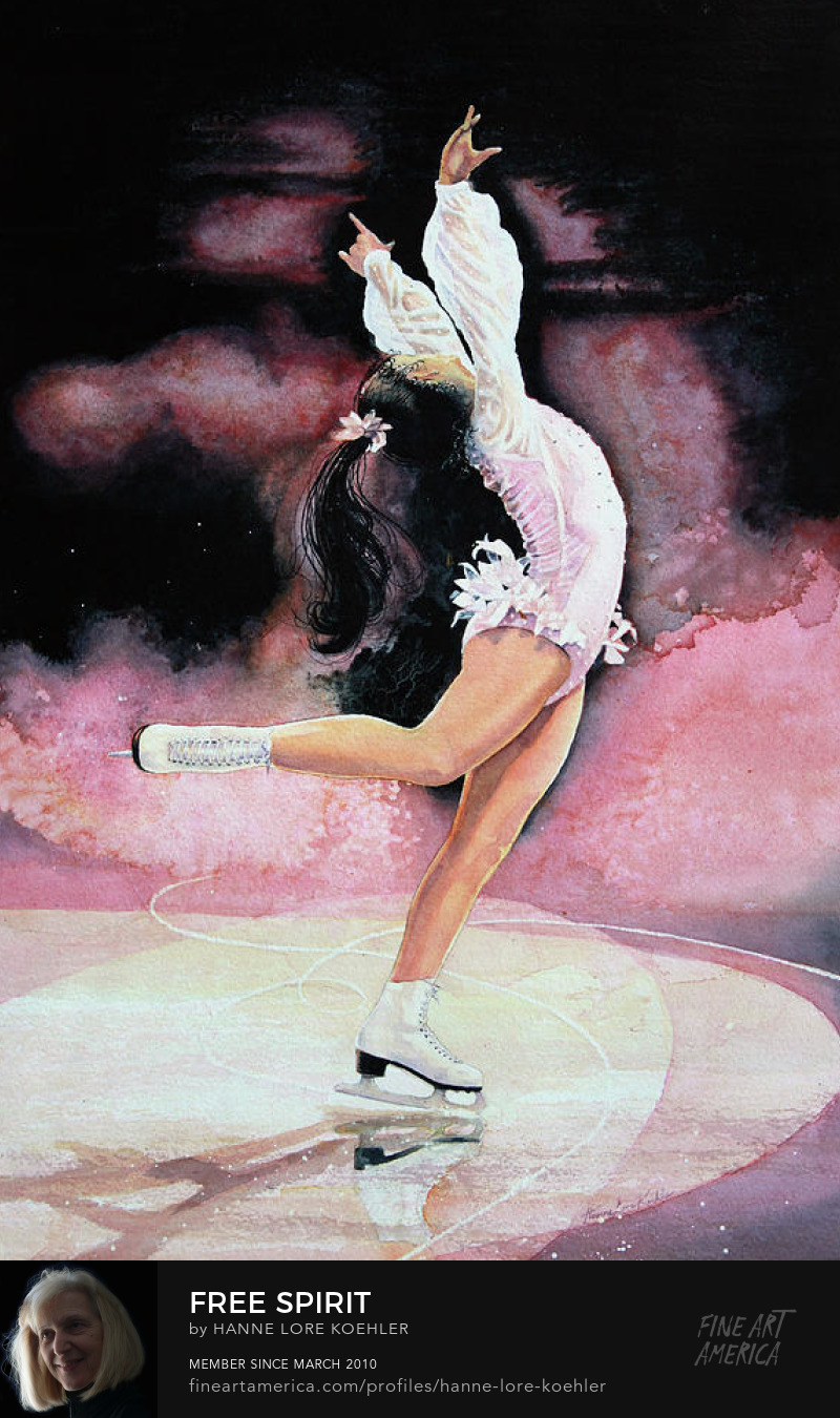 Figure Skater Painting And Art Prints