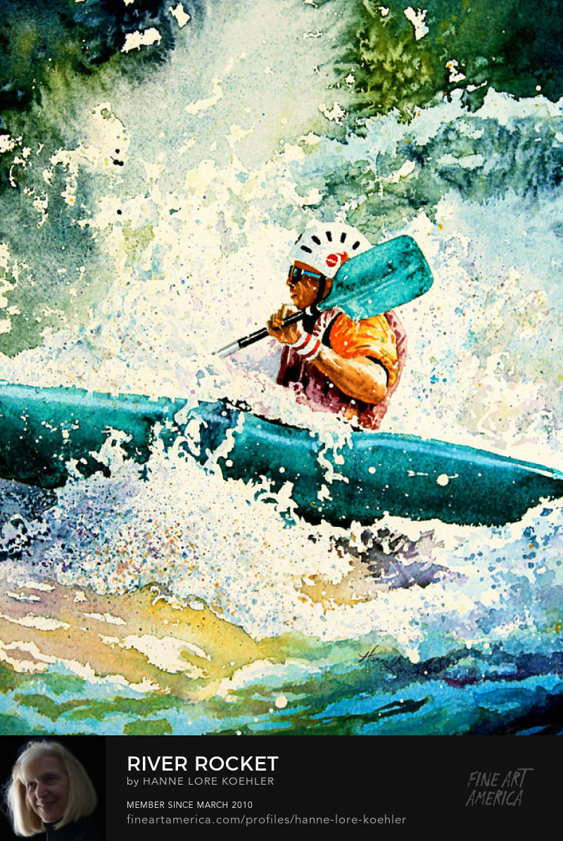 White Water Kayak Painting