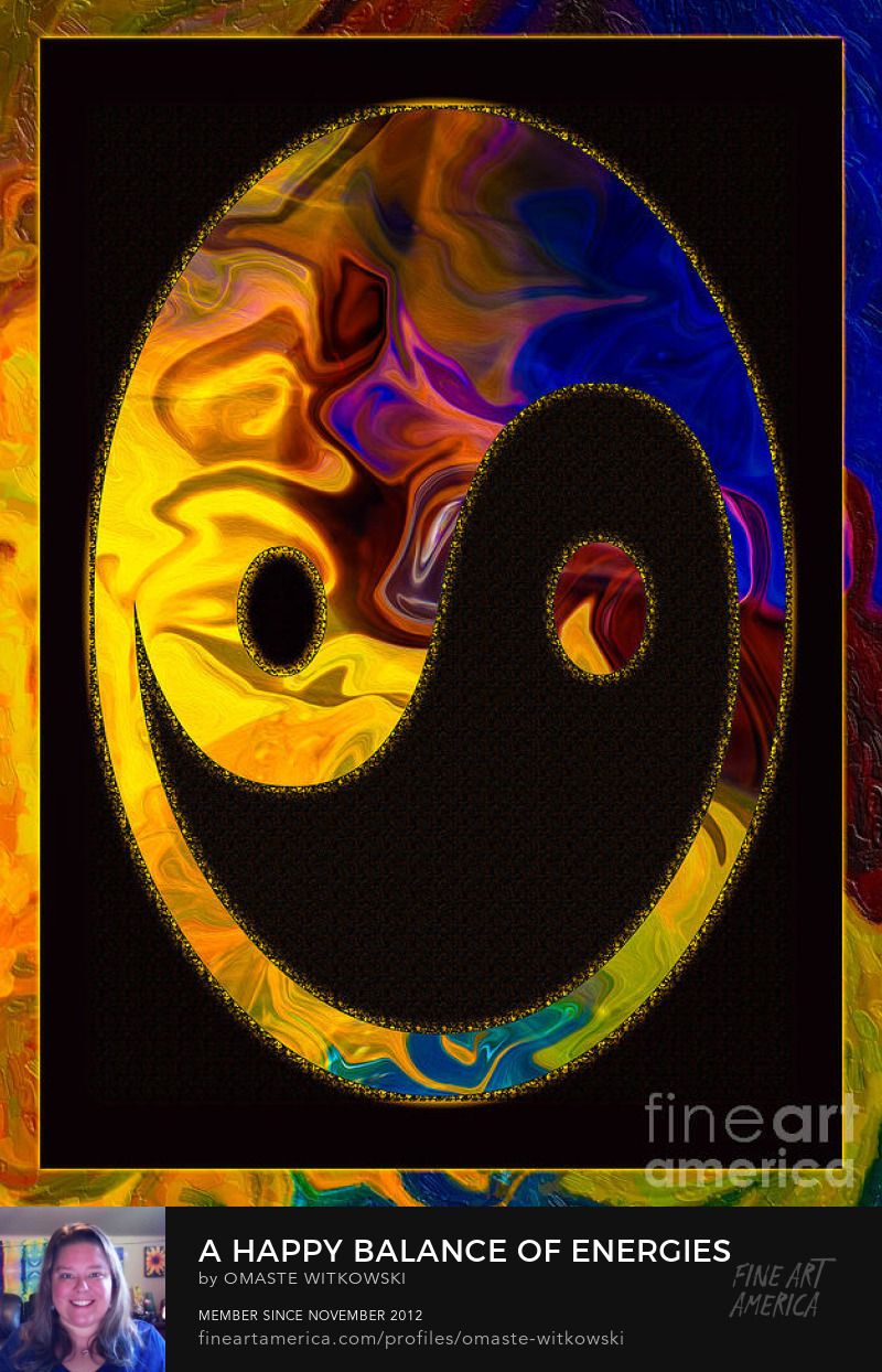 A Happy Balance Of Energies Abstract Healing Art Art Prints