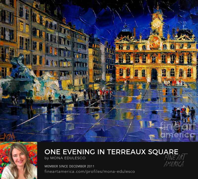 One Evening In Terreaux Square Lyon by Emona
