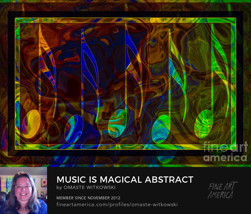 Music Is Magical Abstract Shapes and Symbols Art Prints